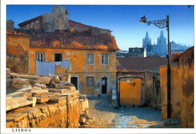 Lisboa 1990 - Alfama - Carte postale 1